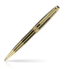 Classic Montblanc Meisterstuck Solitaire Gold & Black Kuglepen [